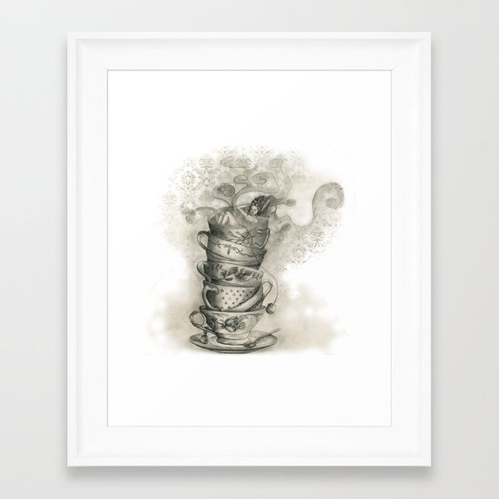 Tea bath Framed Art Print