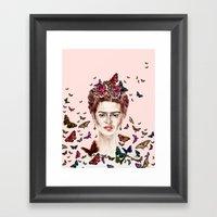 Frida Kahlo Flowers Butt… Framed Art Print