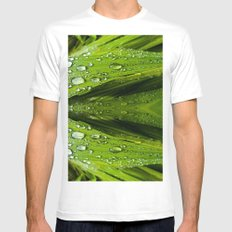 Floral Reflections in water Mens Fitted Tee SMALL White