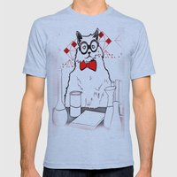 Chemistry Cat Mens Fitted Tee Athletic Blue SMALL