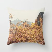 Mountain Lodge Throw Pillow