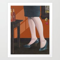 girl with legs Art Print
