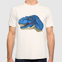 Felling Blue T-Rex - Din… Mens Fitted Tee Natural SMALL