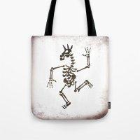 Skeleton Unicorn Dance 2 Tote Bag