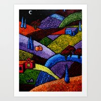 New Mexico Landscape painting Art Print