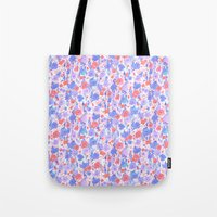 Flower Field Apricot Lil… Tote Bag