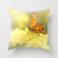 Precious Summer Gold Throw Pillow