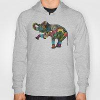 asian elephant white Hoody