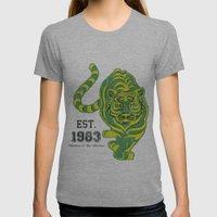 Battlecat - HeMan, 80's, Cartoon, Throw Back, Green Tiger Womens Fitted Tee Athletic Grey SMALL