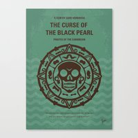 No494-1 My Pirates of the Caribbean I minimal movie poster Canvas Print