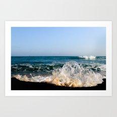Wave Bubble Splash Art Print
