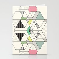 GEOMETRIC SPACE Stationery Cards