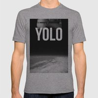 Felix Baumgartner YOLO Mens Fitted Tee Athletic Grey SMALL