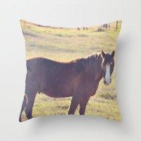 Chesnut Horse Throw Pillow