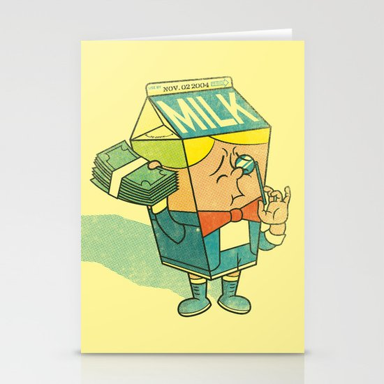 Spoiled Milk Stationery Card