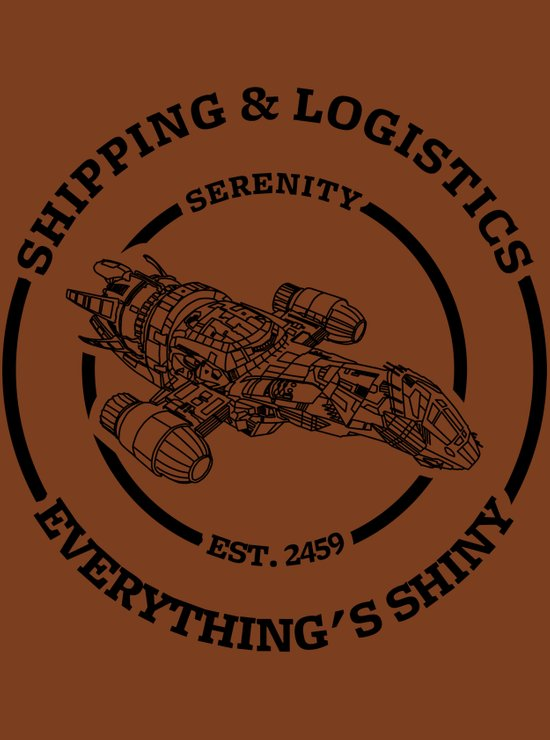 SERENITY SHIPPING AND LOGISTICS Art Print