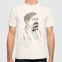 Claude Debussy Mens Fitted Tee Natural SMALL