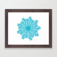 Blue flow er Framed Art Print