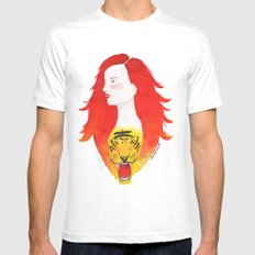 Roaring fire Mens Fitted Tee SMALL White