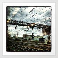Hoboken Train Station Art Print