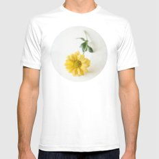 Yellow Flower StillLife Mens Fitted Tee White SMALL