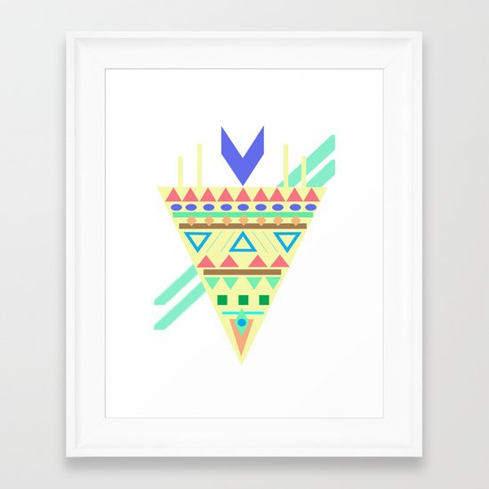 Triangle Affiniti Framed Art Print