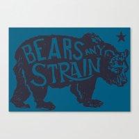 Bears Any Strain Canvas Print