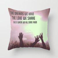 Pretty Lights Inspiration Throw Pillow