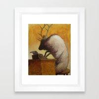 The Struggling Poet Framed Art Print