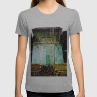 Nature finds the way inside... and outside... Womens Fitted Tee Athletic Grey SMALL