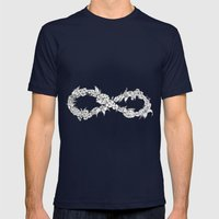 Forever A Hippie Mens Fitted Tee Navy SMALL
