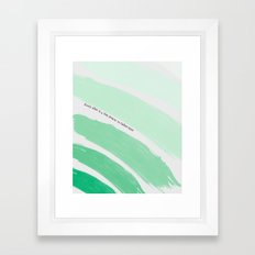 Every Plan is a Tiny Prayer to Father Time - Death Cab for Cutie Watercolor Rainbow Framed Art Print
