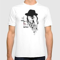 Jack White Cuts Like a Buffalo Mens Fitted Tee White SMALL