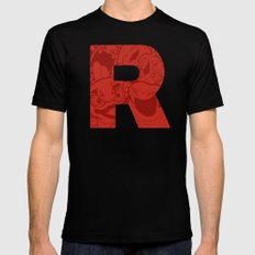 TEAM ROCKET Mens Fitted Tee Black SMALL