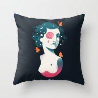 Rebel Girl Throw Pillow