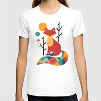 rose T-shirts featuring Rainbow Fox by Andy Westface