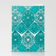 Stationery Cards featuring Saffreya Turquoise by Sharon Turner