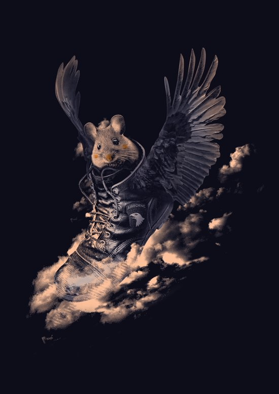 Flying Mouse Art Print