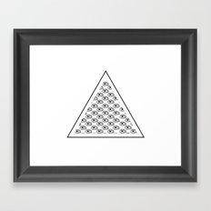 All seeing eyes Framed Art Print