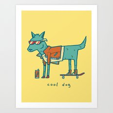 Cool Dog Art Print