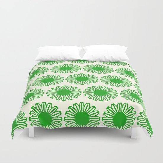 Vintage Flower_Green Duvet Cover