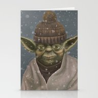 Christmas Yoda Stationery Cards