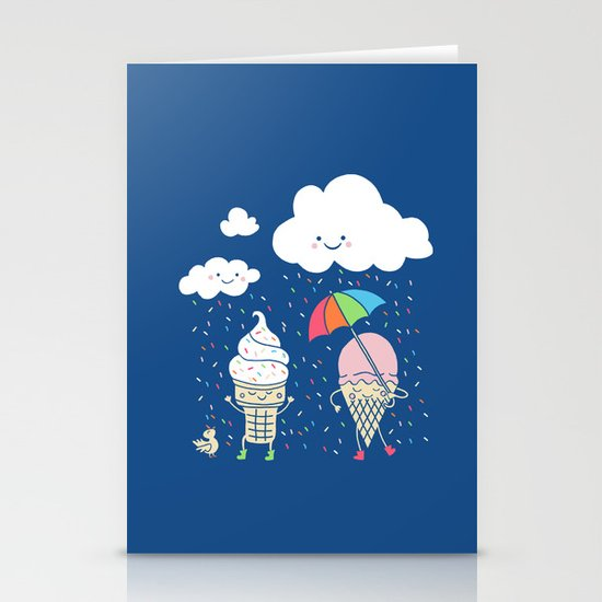 Cloudy With A Chance of Sprinkles Stationery Card