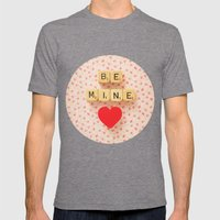 Be Mine Mens Fitted Tee Tri-Grey SMALL