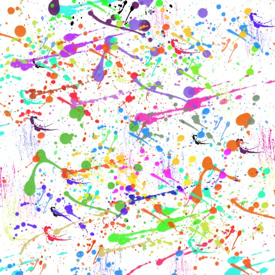 Paint Splatter 2 - White Art Print