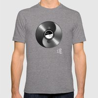Tao_disk Mens Fitted Tee Tri-Grey SMALL