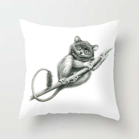 Philippine Tarsier G2012-047 Throw Pillow