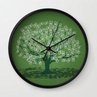 Money Tree Wall Clock