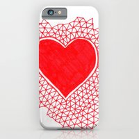 iPhone & iPod Case featuring red geometric heart by Laurel Howells