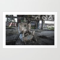 Throne of Man Art Print